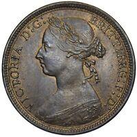 1887 HALFPENNY - VICTORIA BRITISH BRONZE COIN - SUPERB