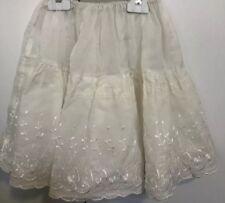 Vintage 50's 60's Girls Size 5-8 Off White Petticoat Crinoline Skirt Party EUC