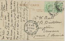 "2468 1910 EVII ½ D (2x) superb RP  ""DEVONPORT"" ""GEORGETOWN"" BRITISH GUIANA RRR!!"