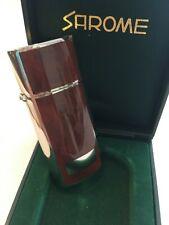 Vtg New Nos Sarome Cigarette Cigar Lighter Tobacciana Marbled Brown Oil 2-01