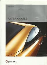 Vauxhall astra coupé aperçu sales brochure novembre 1999 pour modèle 2000 année