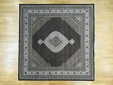 12'x12' Square Hand-Knotted Wool and Silk Mahi Fine Oriental Rug R30977