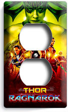 THOR RAGNAROK HULK SUPERHERO & JUSTICE LEAGUE OUTLET WALL PLATE GAME ROOM DECOR