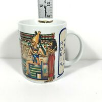 "Luxor Coffee Mug Egyptian Robin Vintage Ceramic Pyramids 12 oz  Colorful Cup 4""T"