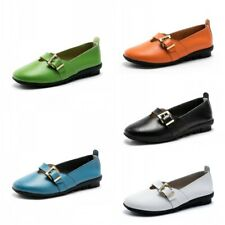 35-44 Ladies Summer Slip On Office Workwear Loafer Casual Moccasins Shoes Flat B