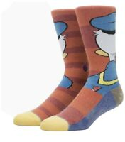 Stance 545 Disney Socks Donald Duck Adult Mens Large New Fast Shipping