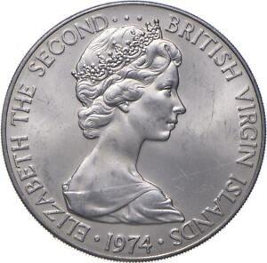 Better - 1974 British Virgin Islands 50 Cents - TC *803