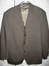 Mens Olive CALVIN KLEIN Lined Wool Suit 44 Regular