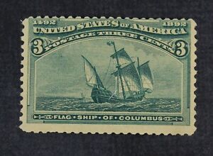 CKStamps: US Stamps Collection Scott#232 3c Columbian Mint LH OG