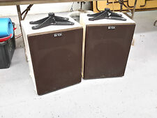 """Vintage Toa 15"""" speakers cabinet HS-15 180W 8 ohms atlas brackets monitor mains"""