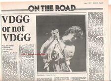 VAN DER GRAAF GENERATOR Marquee concert review 1976 ARTICLE / clipping