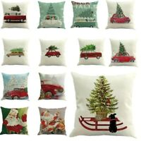 Christmas Printed Dyeing Throw Pillow Case Cushion Cover Home Decor Xmas Hot UK