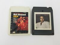 Neil Diamond 8 Track Tapes Set of 2 September Morn & Gold Sweet Caroline Holly