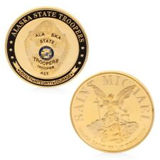 Collection Saint Michael Alaska State Troopers Commemorative Challenge Coin Gold