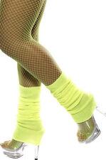 Retro Stulpen neon-gelb NEU - Zubehör Accessoire Karneval Fasching