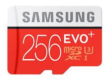 Samsung 256gb EVO Plus Grade 3 microSDXC Memory Card Class 10 R100/w90 Mc256ga