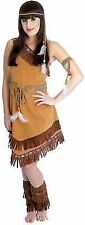 Red Indian Squaw Ladies Pocahontas Native American Tigerlily Fancy Dress Costume XXL Size 24 - 26