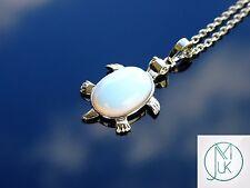 Opalite Turtle Manmade Gemstone Pendant Necklace 50cm Healing Stone