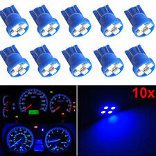 10X T10 Wedge Blue 4SMD LED Dashboard Light W5W 194 2825 Gauge Cluster Bulbs 12V