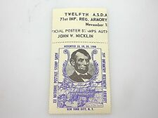 RARE - 1960 NEW YORK STAMP SHOW RALPH DYER SIGNED STAMP - BLUE - NO RESERVE!!!!!