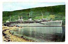 USS Holland Postcard Submarine AS-32 Commissioned September 7 1963 Vintage