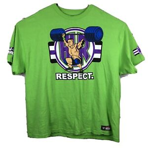 WWE Authentic John Cena Neon Green Never Give Up Mens T-Shirt Size 3XL