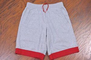 Nike Jordan Fleece Shorts Gray Red Men's Large L
