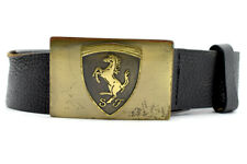 Official Puma Ferrari Mens Leather Belt Black Size 36