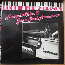MEMPHIS SLIM&JEAN PAUL AMOUROUX BOOGIE FOR 2 PIANOS  GATEFOLD COVER FRENCH LP