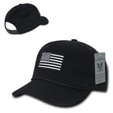 Black Usa Us American Flag 5 Panel Golf Trucker Embroidered Baseball Hat Cap