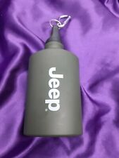 Army style flat aluminum flask water bottle Jeep