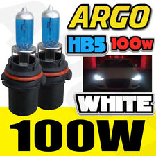 9007 Hb5 80 100w Super White 5900k Xenon Halogen Headlight Bulbs