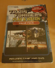 Transformers Play & Watch (Nintendo DS, Game & Movie Value Pack) New!