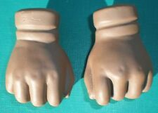 "Porcelain doll hands, fists, 2.1"", coloured, doll making parts"