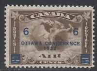 Canada #C4 6¢ On 5¢ Surcharged Ottawa Conference Airmail Mint Never Hinged - B