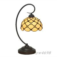 Elegant Tiffany Dotted Stain Glass Desk Lights Table Lamp Night Light Decoration