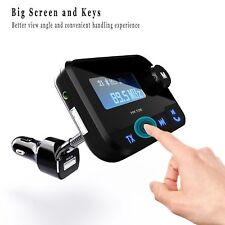 Car Kit Handsfree Bluetooth FM Transmitter MP3 Player Radio Adapter USB Charger