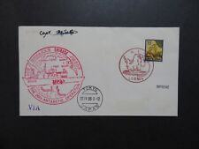 Japan 1985 Ice Breaker Shirase Antarctic Cover / Captin Signed - Z8903