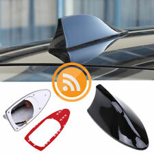 Black Car Shark Fin Antenna Decor Roof Aerial with Radio Signal FM/AM Universal