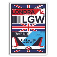 2 x 10cm Gatwick Airport Vinyl Stickers - London Sticker Laptop Luggage #17151
