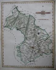 CAMBRIDGESHIRE CAMBRIDGE   BY JOHN CARY GENUINE ANTIQUE MAP  c1793