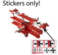 Custom stickers Red Baron LEGO 10024 Triplane Biplane Fokker Sopwith 10226