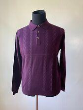 Brunello Cucinelli Mens Maroon Polo Sweater Size 52