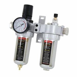 "Air filter / regulator / oil  lubricator for air compressor 1/2"" + 1/4"" fittings"