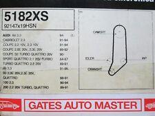 AUDI 80 90 100 COUPE QUATTRO 2.0 2.3 PORTE CAMBELT Cinghia Di Distribuzione 5182XS