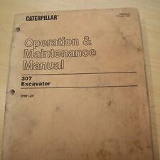 Cat Caterpillar 307 Crawler Excavator Owner Operator Maintenance Manual Guide