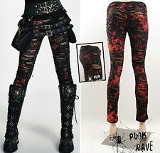 Pantalon leggings gothique punk lolita destroy déchiré voilage stylé PunkRave R