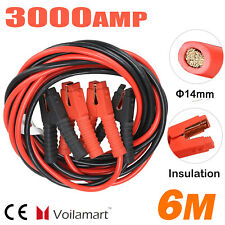 Heavy Duty 6 METRE 3000AMP Car Van Jump Leads Booster Cables Start Recovery New