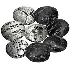 mq+8 Pattern Silver Metallic Black Ash Grey Round Velvet Style Cushion Cover