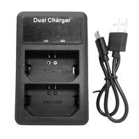 LCD Dual Li-ion Battery USB Charger for Sony NP-FZ100 Batteries ILCE-9 a7r3